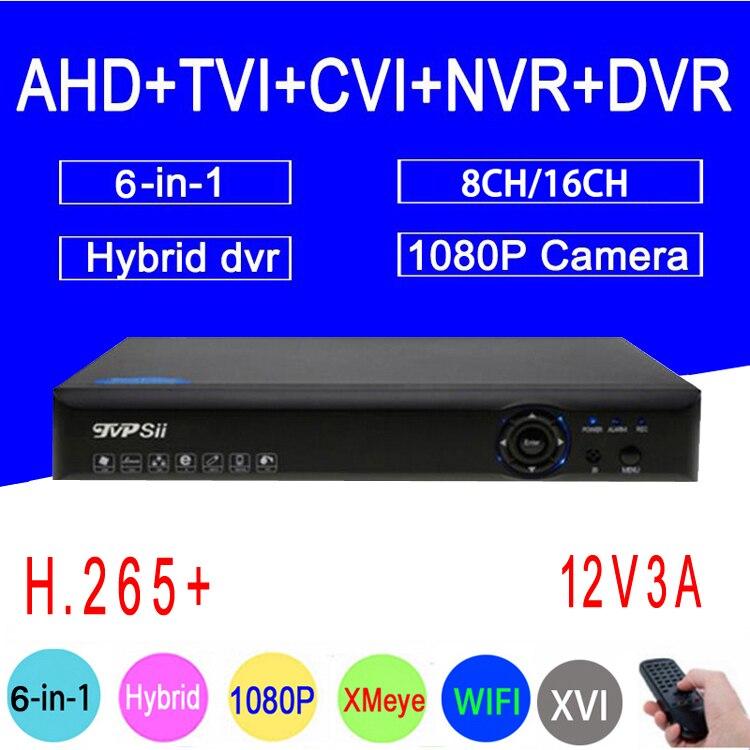 1080 P/960 P/720 P/960 H caméra de sécurité à rayons bleus Hi3521A 1080N 16CH/8CH 6 en 1 WIFI hybride TVI CVI NVR AHD CCTV DVR expédition gratuite