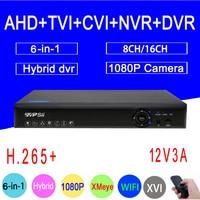 1080P/960P/720P/960H Blue Ray Security Camera Hi3521A 1080N 16CH/8CH 6 in 1 WIFI Hybrid TVI CVI NVR AHD CCTV DVR Free Shippin