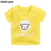 Новая стильная модная детская одежда с рисунком овечки для мальчиков, футболка, топ с короткими рукавами, Повседневная летняя одежда для малышей, на возраст 12 мес.-6 лет, camiseta