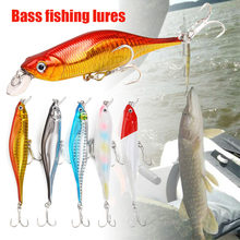Hot Minnow Fishing Lures Realistic Slow Sinking Fish Bait with Treble Hooks MCK99(China)