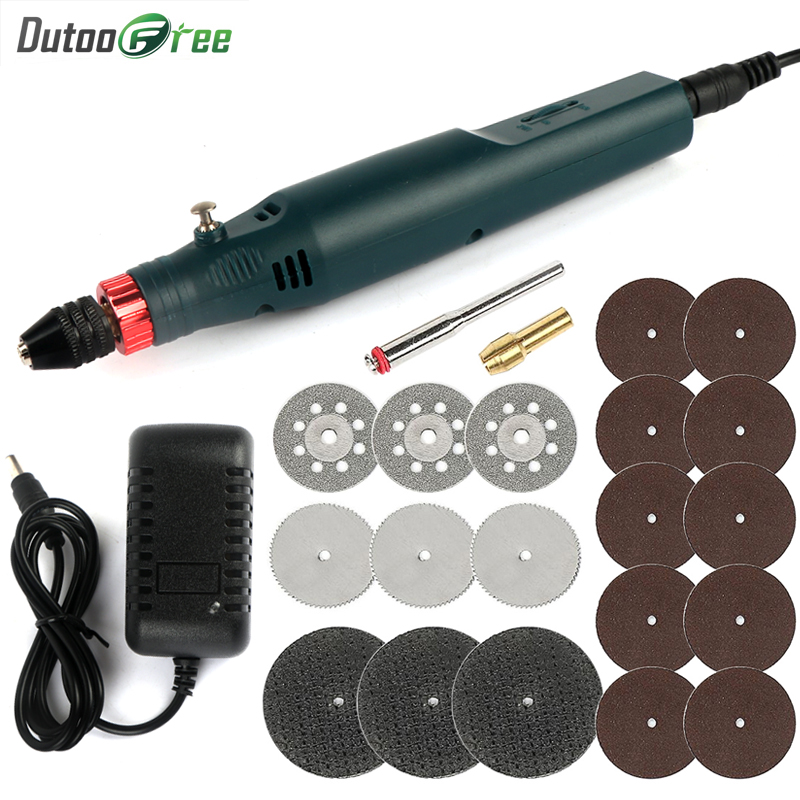 Infinitely Variable Speed Mini Electric Drill Hand-held Power Tools Jade Polishing Engraving Tools Electric Drill Speed