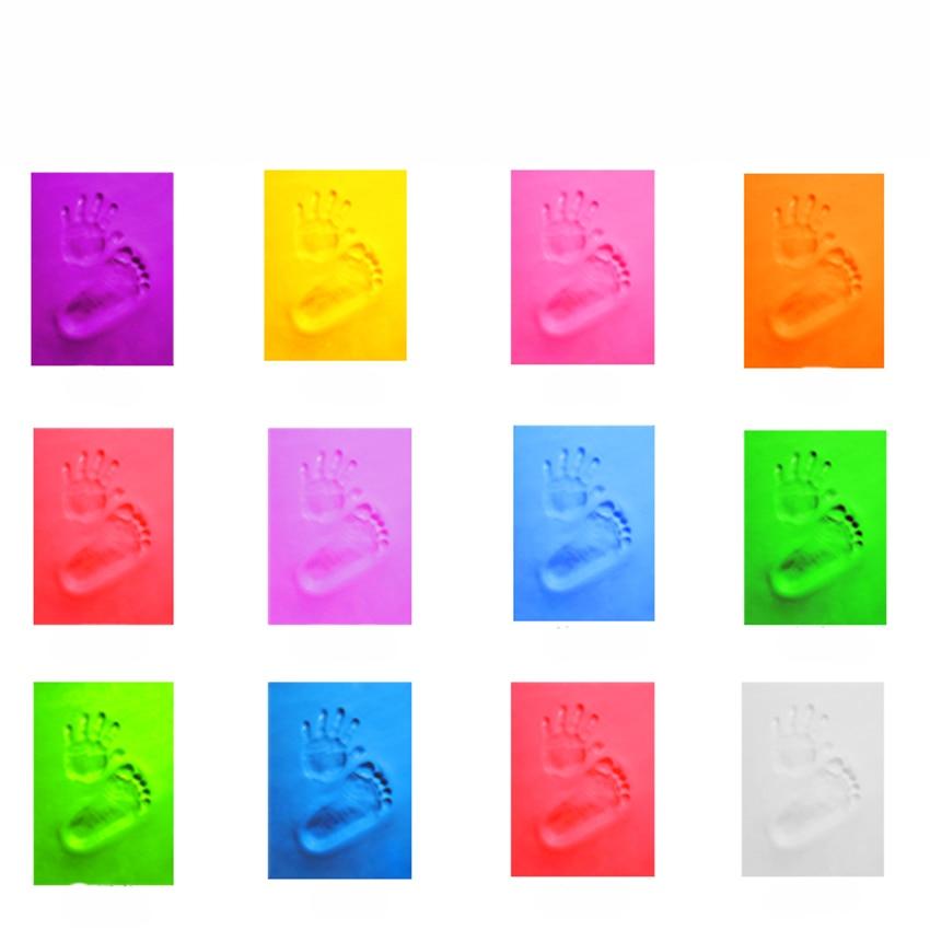Baby Clay Handprint & Footprint Keepsake Soft Clay Baby Care Air Drying Footprint Clay Inkpad, Safe And Non-toxic, Baby Gifts
