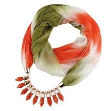 Spring 2019 pendant scarf necklace gradient multicolor ladies trade trend jewelry