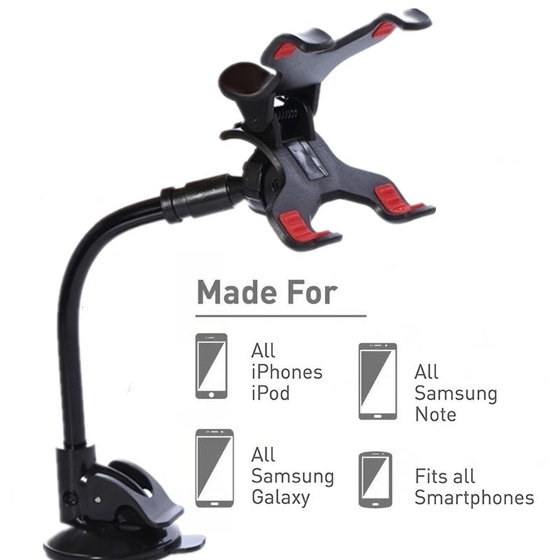 Car Holder For Phone Long Arm Lazy Holder Clip Mount No Magnetic Mobile Phone Holder Cell Stand For IPhone11 Pro 8 7 6 6s Holder