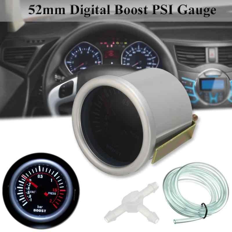 "6031BL 2 ""52mm 12V כחול LED-1 ~ 2 בר רכב טורבו Boost מד מטר עם חיישן עבור רכב/סירה/משאית/טרקטורונים"