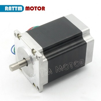 NEMA23 270Oz-in stepper motor 1.8N.m 3A 76mm Single shaft 4 leads for CNC Router Engraving Milling Cutting Machine image