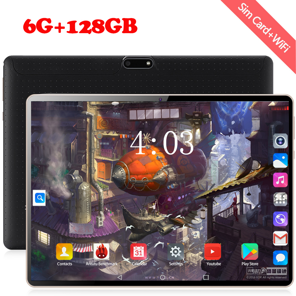 2020 Newest 10.1 Inch Android 8.1 Tablet Pc 6GB RAM 128GB ROM Octa Core 8 Cores Dual Camera 1280*800 IPS 4G LTE Phone Tablet 10