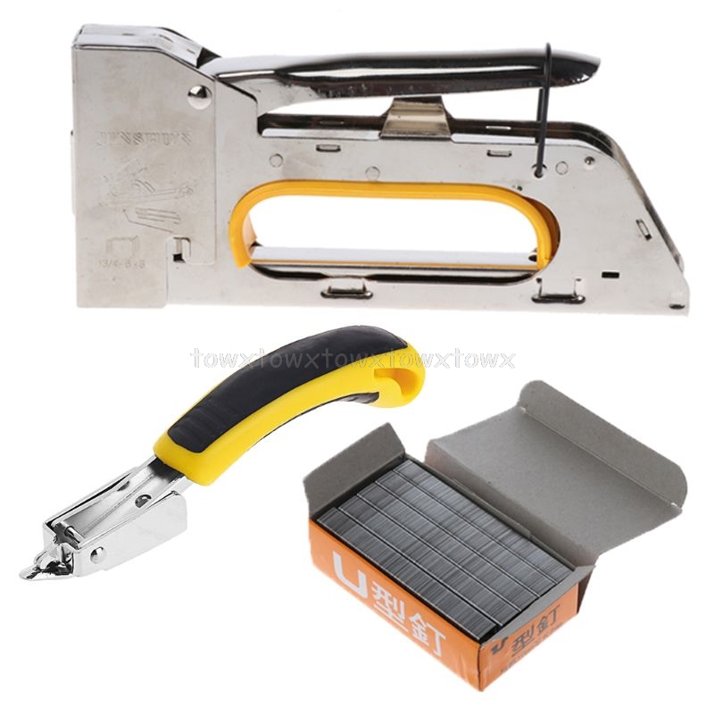 Nail Staple Gun Set Door Type Nails With Staper Remover For Furniture Door O24 19 Dropship