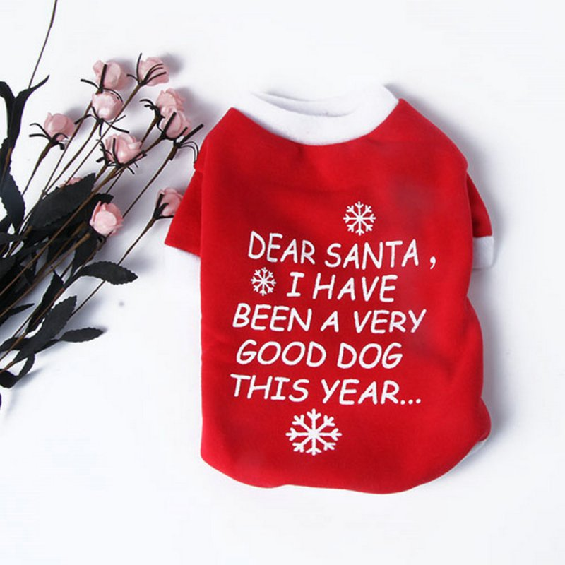 Warm Xmas Christmas Pet Dog Coats Jackets Letter Print Dog Sweater Pet Clothes Costume Coat T Shirt Dog Supplies Dog Coats & Jackets    - AliExpress