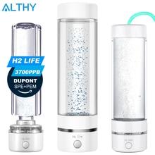 H2Life Wasserstoff Reiche Wasser Generator Flasche DuPont SPE PEM Dual Kammer Technologie H2 Maker lonizer Elektrolyse Tasse Max 3700ppb
