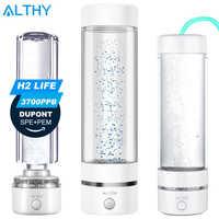 H2Life hidrógeno rico agua botella generadora DuPont SPE PEM doble cámara tecnología H2 fabricante lonizer electrólisis Copa Max 3700ppb