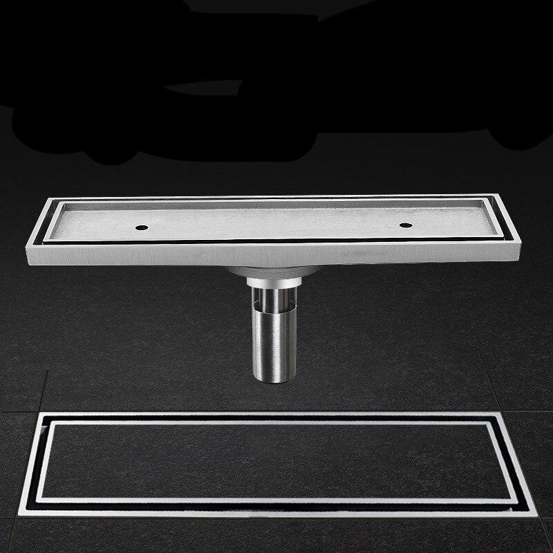 Drain de sol drain de sol rectangulaire désodorisant bande salle de douche invisible salle de bain mosaïque carrelage eau profonde joint