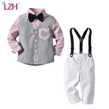 LZH 2020 Winter Autumn Toddler Boys Gentleman Suit Children