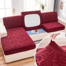 Capa de sofá de pelúcia fabirc 1/2/3/4 seater grosso slipcover sofá cobre estiramento elástico capas de sofá