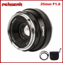 Pergear 25Mm F1.8 Prime Lens Om Alle Enkele Serie Voor Sony E Mount Voor Fuji Mount Micro 4/3 Camera a7 A7II A7R A6500 A6300 A6400