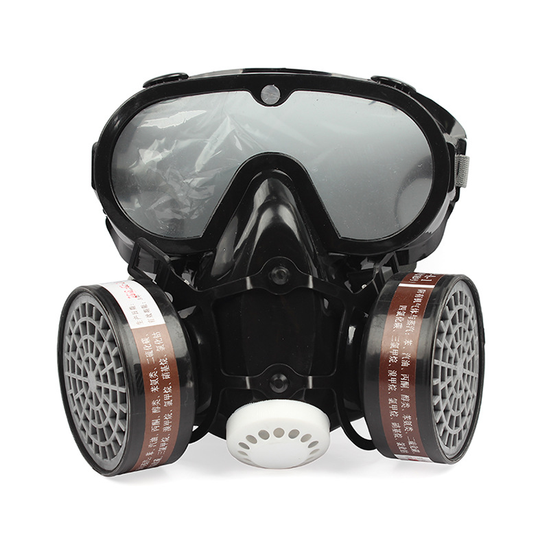 Half Face Gas Mask With Anti-fog Glasses Chemical Dust Mask Breathing Respirator Mask For Pesticide Painting Spray