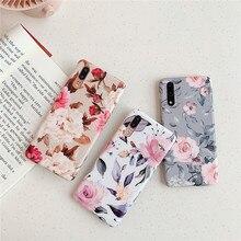 Beautiful leaf flower summer phone cover funda for Huawei case P20 pro lite Mate 20 p30