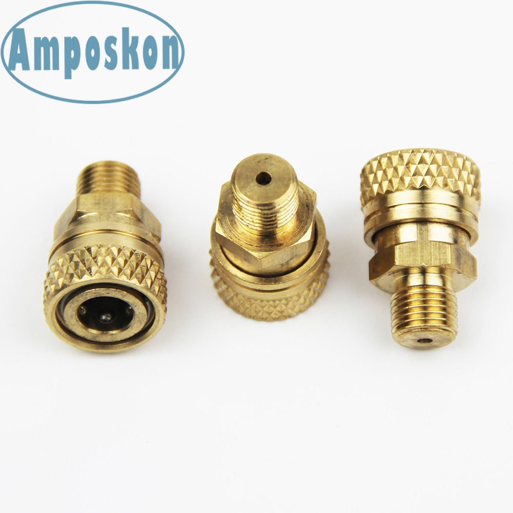 5PCS M10X1&1/8 BSPP &1/8 NPT Paintball PCP Charging Fill Fitting 8mm Copper Quick Disconnect Rated To 300psi/4500PSI Accessories