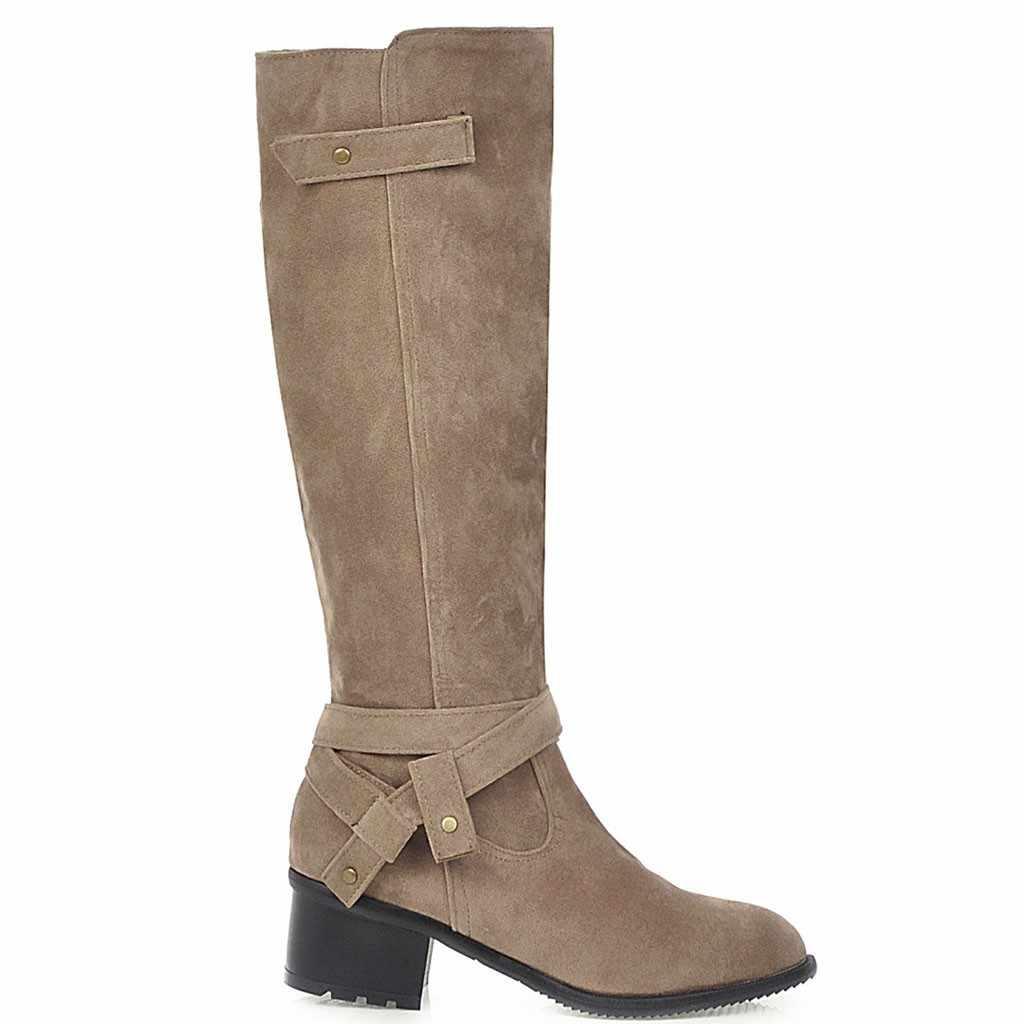 SAGACE Size 35-43 2018 Nieuwe Schoenen Vrouwen Laarzen Zwarte Knie Grote Maat Laarzen Sexy Vrouwelijke Herfst Winter lady dij Hoge Laarzen September 17