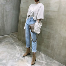 ZOSOL Jeans Woman Casual Harem Jeans Streetwear Denim Pants Trousers Slouchy Jeans Femme High Waist Jeans(China)