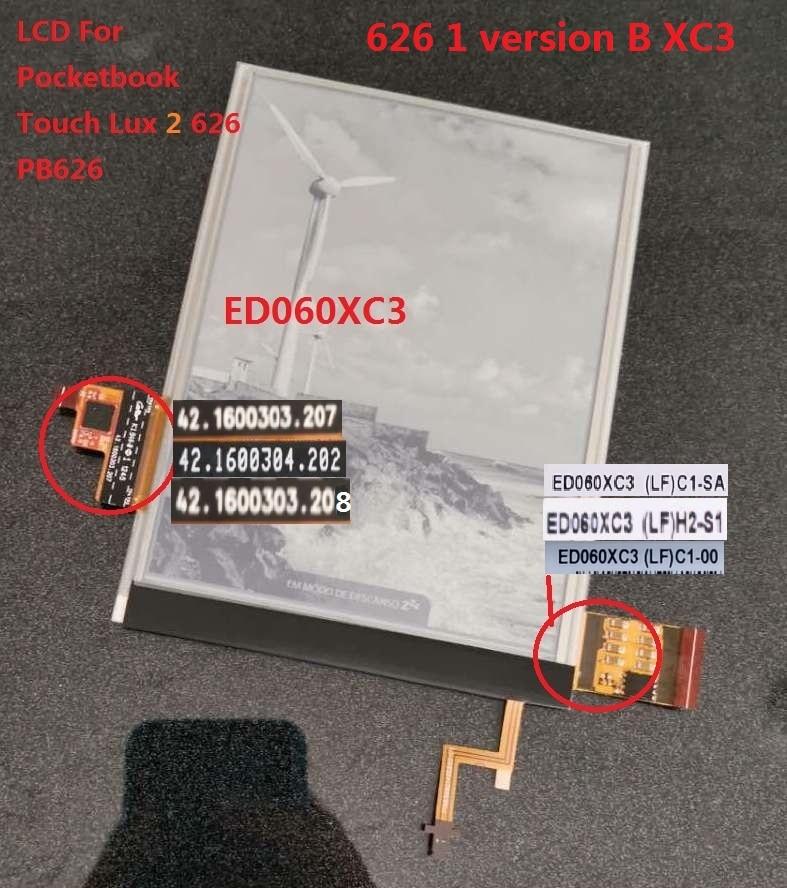 Écran tactile de 6 pouces avec rétro-éclairage Lcd pour Pocketbook Touch Lux 2 626 1 écran LCD pour PocketBook 626 pb626