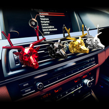 Car Air Conditioning Outlet Oerfume Cute Crystal Deer Head Aromatherapy Interior Ornaments Fresh And Lasting