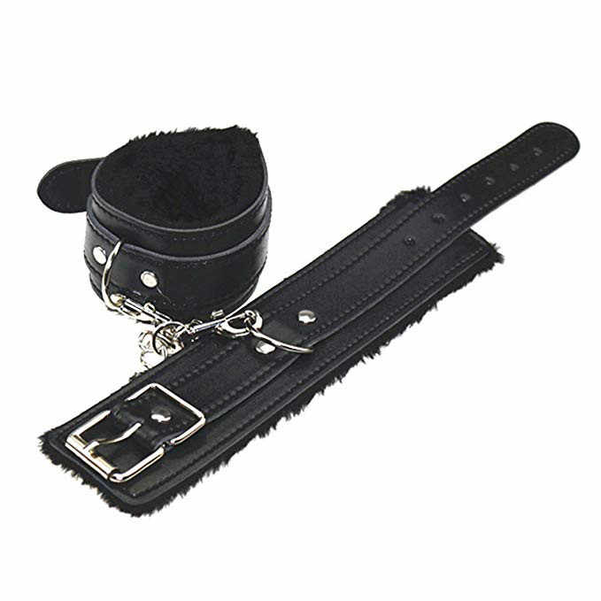 Sexual ผ้าพันคอ Handcuffs นุ่มสบาย PU ขนหนัง Handcuffs ข้อมือข้อมือและ Blindfold Eye Mask เพศของเล่นสำหรับผู้หญิง