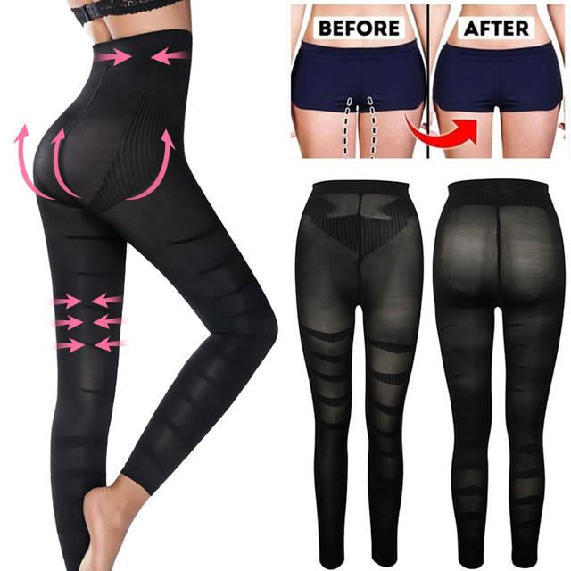 Leg Shapewear Body Shaper Anti Cellulite Compression Leggings ...