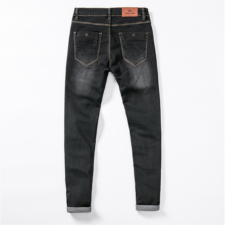 Mens Colored Jeans Stretch Skinny Jeans Men Fashion Casual Slim Fit Denim Trousers Male Green Black