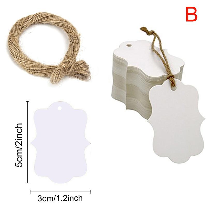 100шт заготовка крафт бумага бирки с отверстием для свадьбы вечеринки украшения подарок бирки упаковка повесить бирки 3см% 2A5см