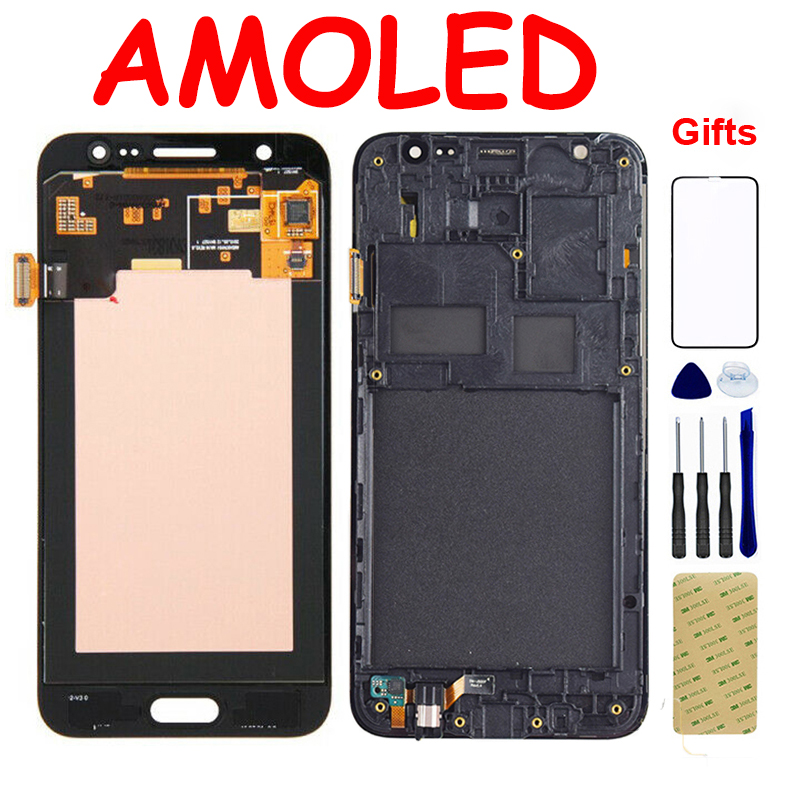 AMOLED LCD For Samsung Galaxy <font><b>J5</b></font> 2015 <font><b>J500</b></font> J500F J500G J500M J500H J500FN LCD <font><b>Display</b></font> Touch Screen Digitizer Assembly Frame image