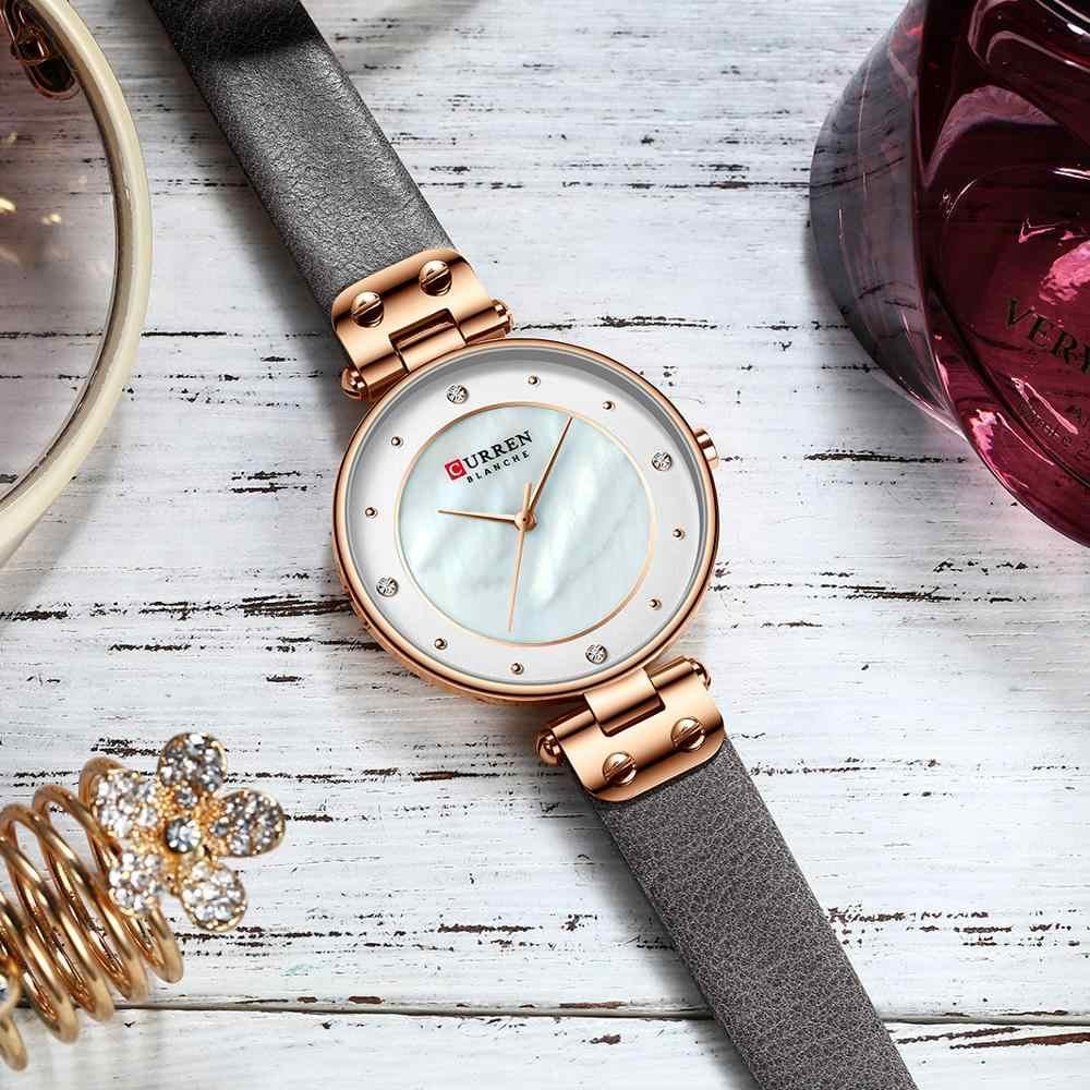 CURREN אופנה יוקרה מותג נשים קוורץ שעון Creative גבירותיי יד שעונים לנשים שעון Relogio Feminino עור שעון