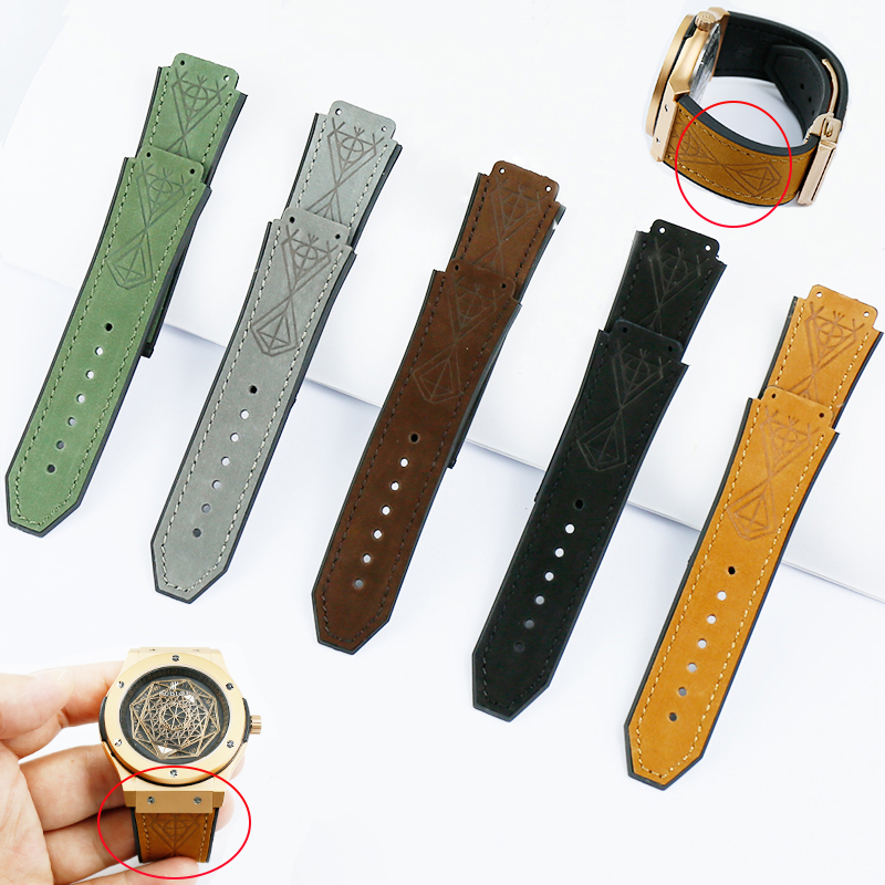 Watch Accessories Men's Rubber Strap For Hublot 25 * 19mm Matte Leather Strap Series 22mm Buckle Ladies Silicone Sports Strap