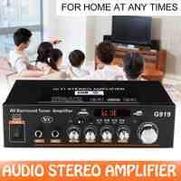 12 V/220 V G919 Home Mini Amplificador Audio bluetooth Stereo Power Verstärker FM SD HIFI 2CH AMP Audio musik-Player