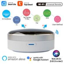 Tuya inteligentna automatyka domowa uniwersalny pilot na podczerwień WiFi + przełącznik kontrolera podczerwieni Google Home Alexa Siri sterowanie głosem