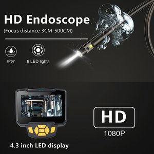 """Image 4 - Portable Dual Lens Handheld Endoscope 4.3""""Screen Inspection Camera with 6 LED 8mm Industrial Digital Endoscopy With 32GB TF Card"""