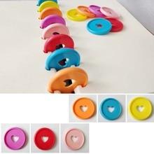 Binder Notebook Disc-Buckle Mushroom-Hole DIY Plastic Heart Loose 35mm Hoop Colorful