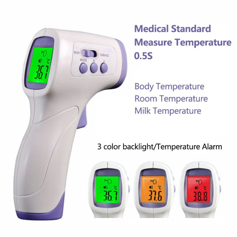 Adult Digital Thermometer Non-contact IR Infrared Thermometer Infrared LCD Forehead Temperature Measurement Household Portable