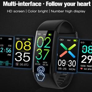 Image 3 - חדש חכם שעון גשש כושר גוף טמפרטורת צמיד שעון לב קצב דם חמצן לחץ IP67 עמיד למים חכם צמיד