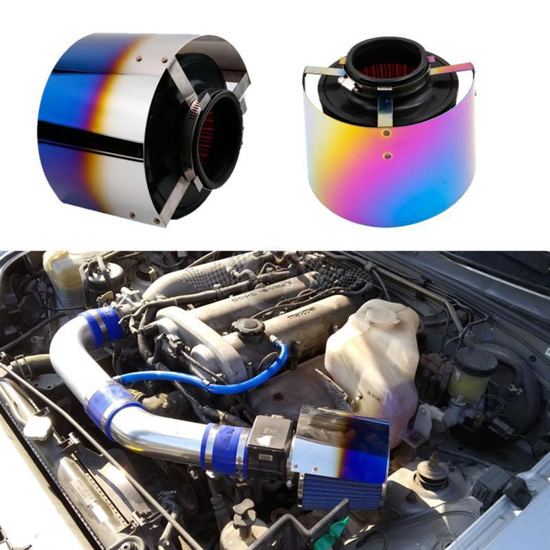 Air Intake Filter Cover Heat Shield For Racing Car Filter Universal Alloy Car Air Inlet Accessories For Car Accessories