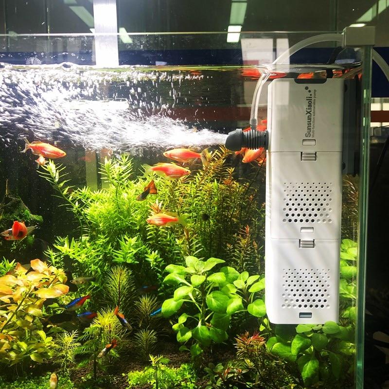 Aquarium Filter Pump 4 In 1 Fish Tank Submersible Air Oxygen Internal Pump Aquarium Air Pump Wave Pump Aquarium Powerhead Pump