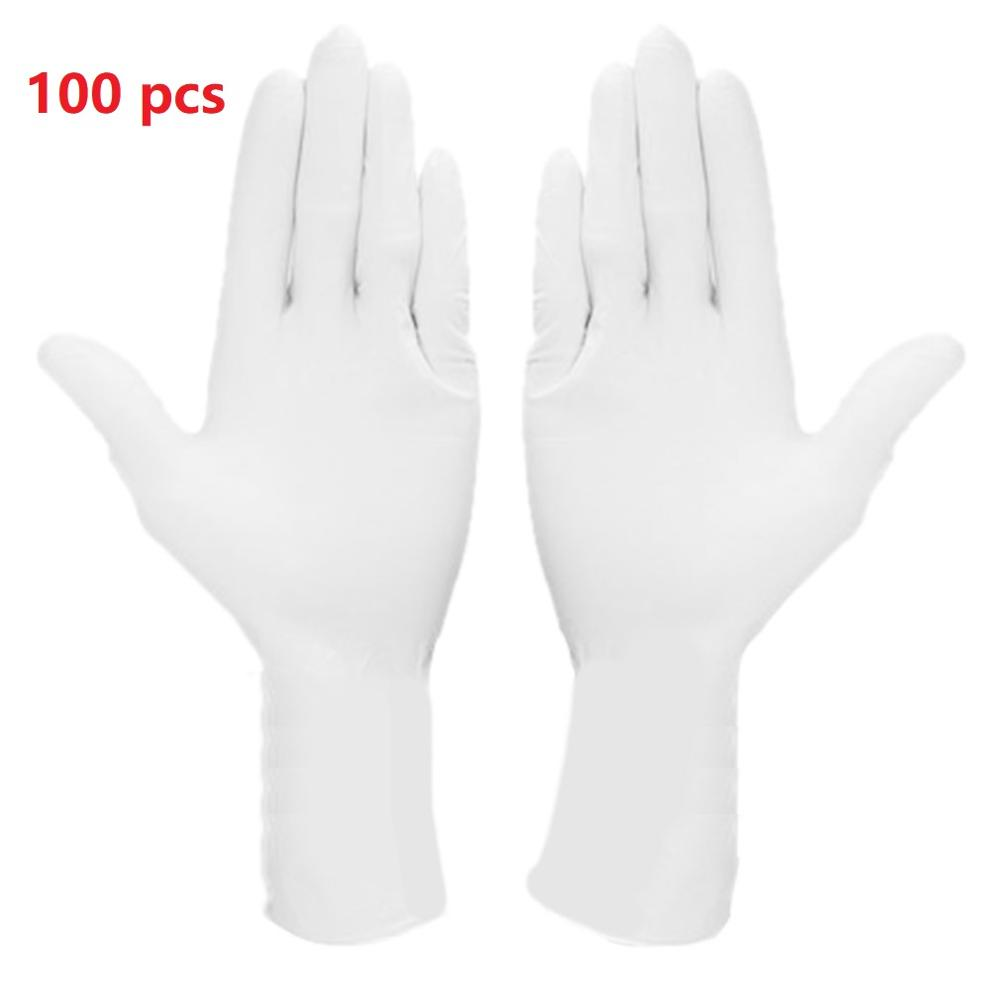 100pcs Nitrile Gloves Full Finger Touch Screen Waterproof Allergy Free Disposable Work Safety Household Cleaning  Gloves