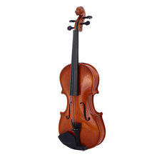 Violin Musical-Instruments Oak-Wood Red Portable Beginner Gifts Bright Tochigi 1/8