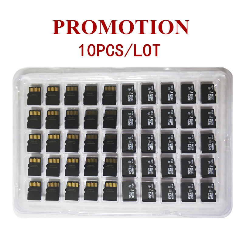 Promotion!10pcs/Lot 1GB 2GB 4GB 8GB Micro Card 64MB 128MB 256MB 512MB TF Card Micro TransFlash Memory Card For Cellphone