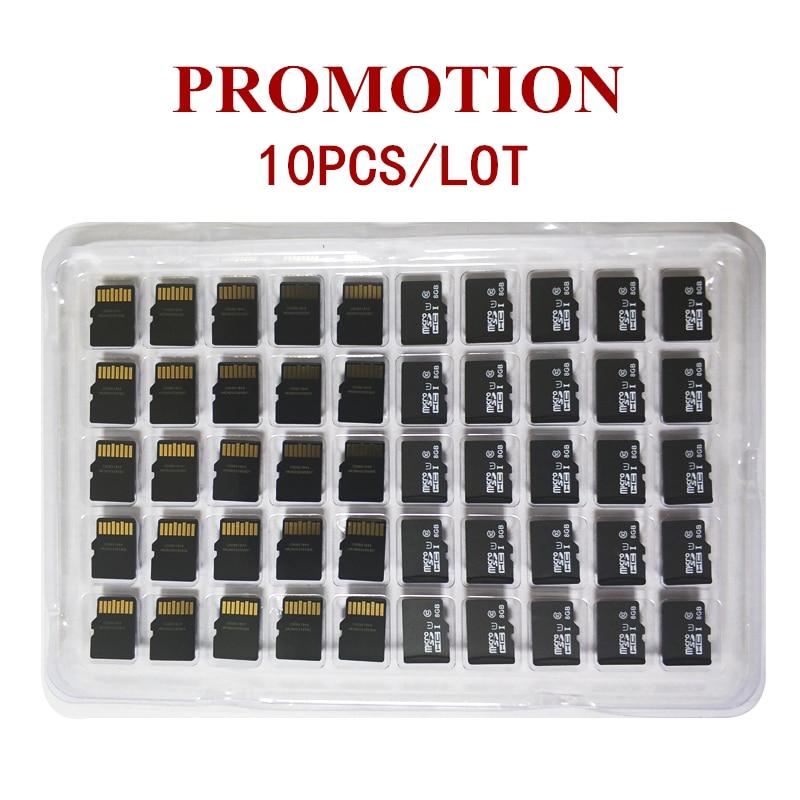 Promotion!10pcs/Lot 1GB 2GB 4GB 8GB Micro Card 64MB 128MB 256MB 512MB TF Card Micro TransFlash Memory Card For Cellphone