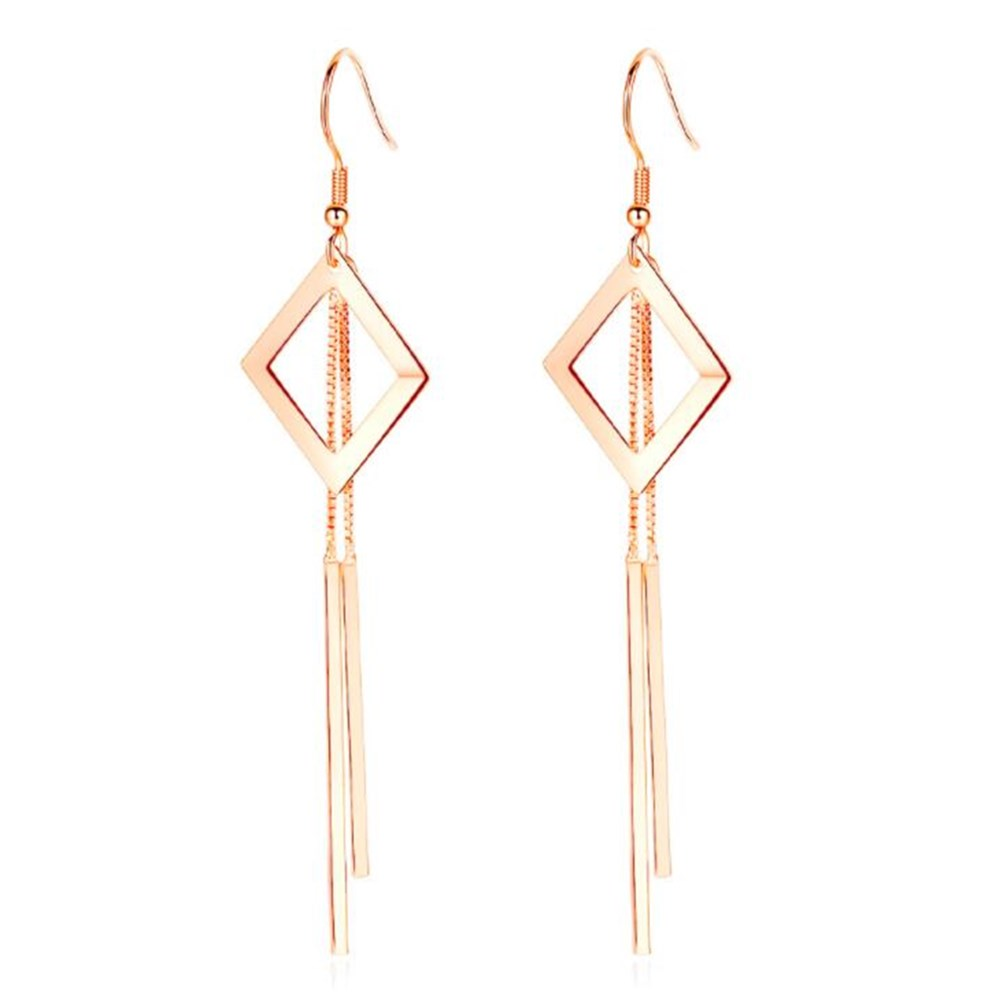 NEHZY 925 sterling silver new Jewelry High Quality Woman Fashion Retro Long Tassel Hollow Square Water Drop Pop Earrings
