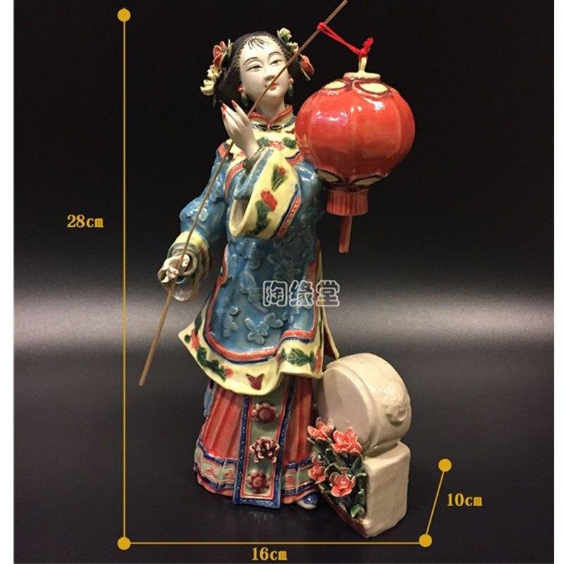 estatueta de cerâmica artesanato decorações para coleção casa r3963