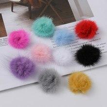 10 pçs 3cm pompom de pele mink pompom bolas mini pompons pompons diy pompom decro para jóias chaveiro hairpin diy acessórios artesanais