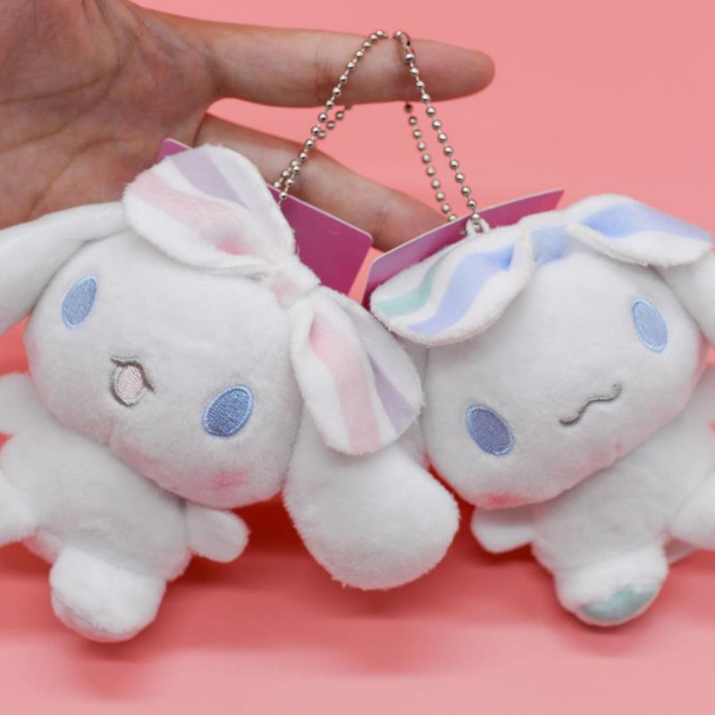1pc Lovely Japanese Anime Cinnamoroll Dog Keychain Bag Pendant Stuffed Plush Toys Cartoon Doll For Kids Girl Gift