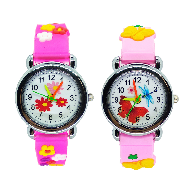 Cartoon Flower Girls Watches For Kids Gift Children Watch Dress Bracelet Clasp Waterproof Quartz Wristwatches Christmas Present